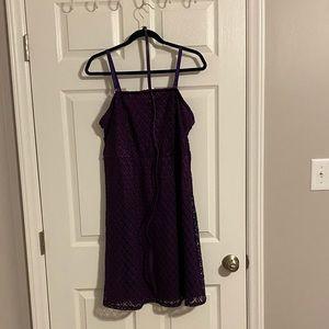 Purple Size 14 Lace Lane Bryant Dress